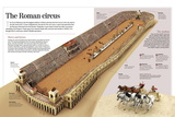 Infographic About the Charioteer Combats in the Roman Circus Maximus Posters