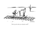 """Don't you love that new-handcar smell?"" - New Yorker Cartoon Premium Giclee Print by Joe Dator"