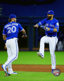 Jose Bautista & Josh Donaldson 2016 Action Photo