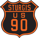 Sturgis US 90 Die Cut Tin Sign