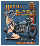 Harley-Davidson Mechanic Babe Embossed Tin Sign