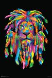 Lion Rasta Kunstdrucke