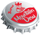 Mountain Dew Bottle Cap Tin Sign