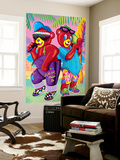 Teddy Rappers '93 Wall Mural by Lisa Frank