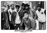 Beastie Boys & Run Dmc- Amsterdam 1987 Reprodukcje