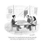 """In five years, I see myself with the same job title, about the same salar... - New Yorker Cartoon Premium Giclee Print by Drew Panckeri"