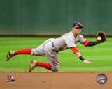 Dustin Pedroia 2015 Action Photo