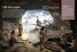 Infographic About the Caves Homo Neardenthalensis and Cromagnon Inhabited in the Palaeolithic Prints