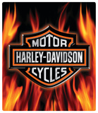 Harley-Davidson Flame Logo Embossed Tin Sign