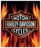 Harley-Davidson Flame Logo Embossed Tin Sign