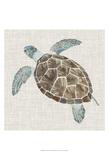 Sea Turtle II Schilderij van Naomi McCavitt
