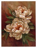 White Peonies I Posters by Barbara Mock