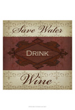 Wine Phrases I Art by  Studio W