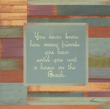 Beaches Quotes III Print by Grace Pullen