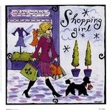 Shopping Girl Poster by Jennifer Brinley