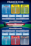 France 2016 Euro Wall Chart Posters