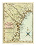 Petite Map of Georgia Giclee Print