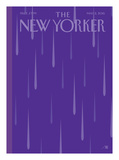Prince Purple Rain New Yorker - Signed Limited Edition Cover – by Bob Staake – May 2, 2016 Limitierte Auflage von Bob Staake