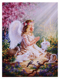 An Angel's Spirit Print by Dona Gelsinger