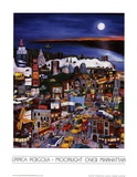 Moonlight Over Manhattan Prints by Linnea Pergola