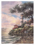 Beacon Light Bay Prints by Carl Valente