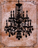 Chandelier II Poster by Lisa Ven Verloth