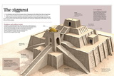 Infographic About the Ziggurat. Pyramidal Buildings from the XXI BC. Focusing on Ur's Ziggurat Prints