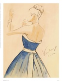 Blue Dress II Prints by Tara Gamel