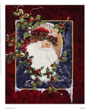Santa's Portrait Prints by Peggy Abrams