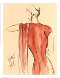 Red Dress II Poster di Tara Gamel