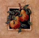 Pear Square Prints by Barbara Mock