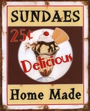 Sundaes Prints by Lesley Hallas