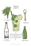 Classic Cocktail - Mojito Posters por Naomi McCavitt