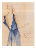 Blue Dress I Print by Tara Gamel