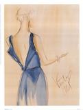 Blue Dress I Stampa di Tara Gamel