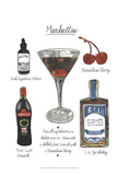 Classic Cocktail - Manhattan Prints by Naomi McCavitt
