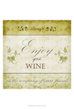 Wine Phrases VI Print by  Studio W