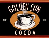 Golden Sun Cocoa Prints by Catherine Jones