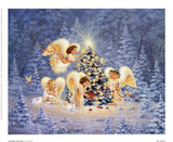 Silent Night, Gentle Light Prints by Dona Gelsinger