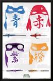 Ninja Turtles 2- Silhouette Masks Print