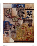 Rome Collage Print by Susan Osborne
