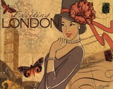 London Posters af Maria Woods