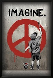 Imagine Peace Graffiti Poster