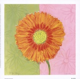 Orange Daisy Posters by Dona Turner