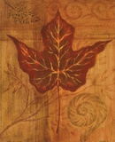 Autumn Leaf I Print by Marcia Rahmana