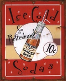 Ice Cold Sodas Print by Lesley Hallas