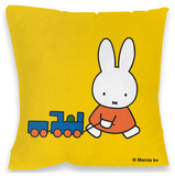 Miffy Pulling Train Cushion Throw Pillow