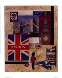 London Collage Prints by Susan Osborne