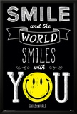 Smiley- World Smiles With You Print
