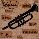 Dixieland Sound Prints by Anji Allen